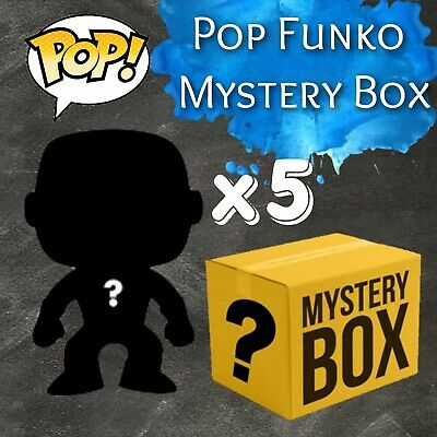 Funko Pop! Lot Of 5 Mystery Pops! Exclusives And More!  Some Boxes Are Damaged.