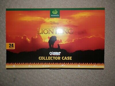 Brand New Woolworths The Lion King Ooshies Collector Case & some characters