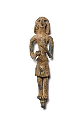 ANCIENT FIGURE OF A DEITY BRONZE CANAANITE 2nd-1st MILLENNIUM BC