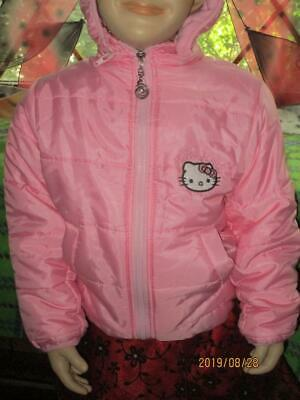 Girl's Size 3T Hello Kitty Puffy Coat With Hood By Fashion Classic