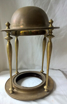 "Old 16"" Brass Hanging Light Fixture Lamp Lantern"
