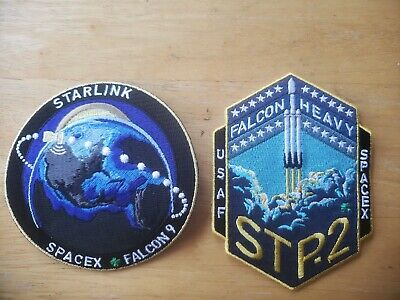 SPACEX ORIGINAL Complete 2  Mission PATCH SET FALCON-9  and Falcon HEAVY