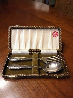 Vintage Yeoman Plate Fork & Spoon Made in England in Original Box