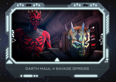 19 STAR WARS Card Trader Alliances of Evil Darth Maul & Savage Opress WHITE
