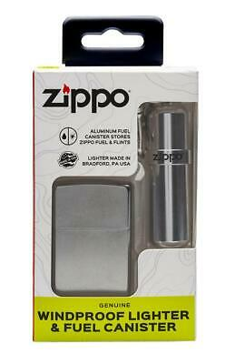 Zippo 29788, Street Chrome Lighter Set With Fuel Canister