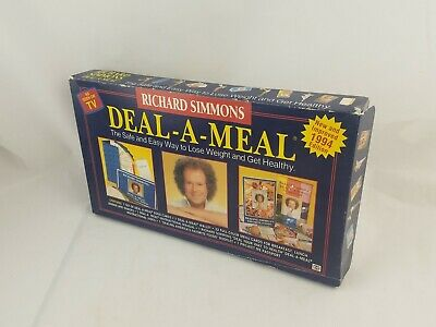 Richard Simmons DEAL A MEAL Healthy Weight Loss 1994 COMPLETE VHS Sealed