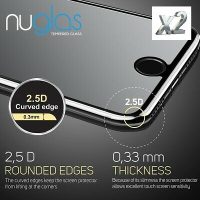 iPhone XS Max XS XR X 8 7 Plus- 2X NUGLAS Tempered Glass Screen Protector Apple