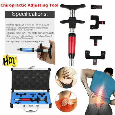 Electric Chiropractic Adjusting Tool Therapy Spine 1/4 Head Correction Massage C