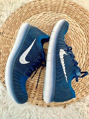 Details about NIKE Free Run RN Youth Running Shoes 6Y Blue Girls Boys 833989 100