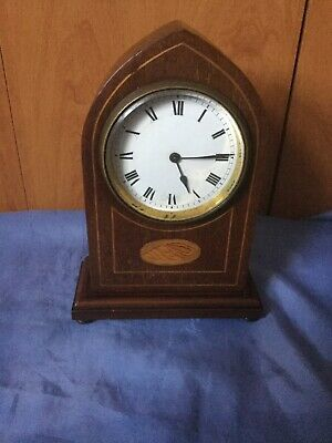 A French Antique Lancet Top Mantel Clock For Repair