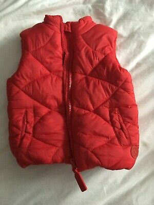 Mothercare Padded Red Gilet Age 12-18 Months