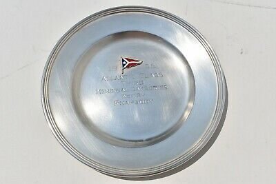 Vintage International Lord Saybrook Sm Sterling Silver Cruise Ship Trophy Plate