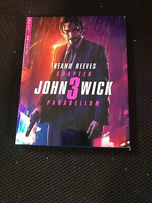JOHN WICK CHAPTER 3 PARABELLUM BLU RAY DVD 2 DISC SET + SLIPCOVER No Digital