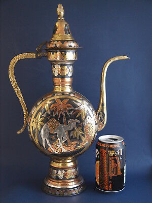 Large Decorative Vintage/Antique N.African Brass Coffee Pot