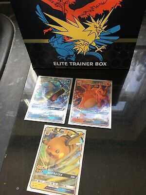 Pokemon Hidden Fates SM211, SM212, SM213 Charizard, Gyarados And Raichu GX MINT