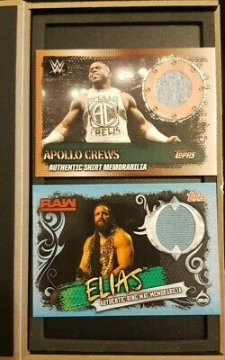 Topps Slam Attax 10th Edition 2x Relics - Apollo Crews Shirt TS5 1:966 odds &...