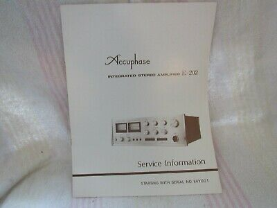 Accuphase/Kensonic. Original Service Manual. Model E-202. Integrated Amp. Japan