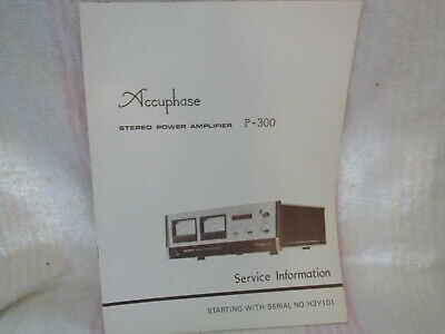 Accuphase/Kensonic. Original Service Manual. Model P-300. Stereo Amplifier-Japan