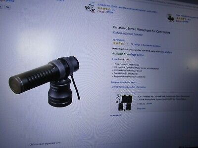 NEW Panasonic VW-VMS10-K stereo microphone  with windshield .carry bag