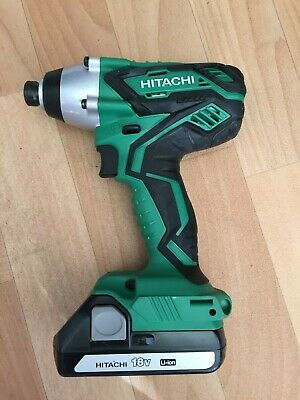 Hitachi  Wh18Dgl 18V Impact Driver  Unit & Bsl1815 1.5Amp Battery