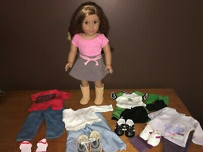 Huge Lot American Girl Lea Clark 2016 Doll with AG clothes Outfits Shoes TLC