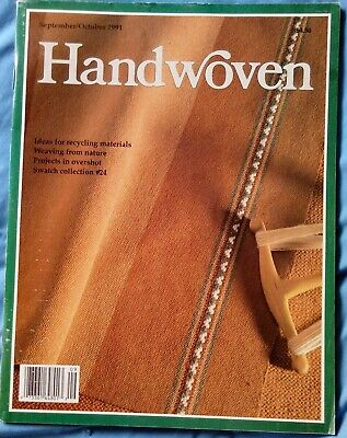 Handwoven, 4  1991 Issues, Janury,March,,May,September