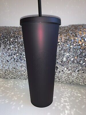 Starbucks Halloween Purple Black Matte Iridescent Tumbler Acrylic 24oz 2019 New