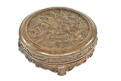 Antique Chinese Wooden Carved Fruit Tray / Box, 1930, Republican Period of China