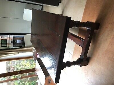 Antique dining table  extendible  refectory