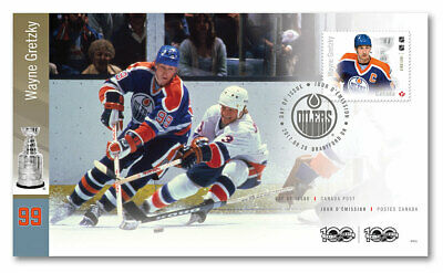 Wayne Gretzky Canada Post Stamp NHL Legends First Day Cover & Collector Packaged