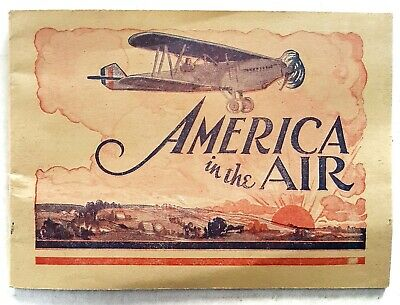 Vtg America In The Air Adv Booklet Dr Patent Medicine Pierce Airplane Buffalo NY