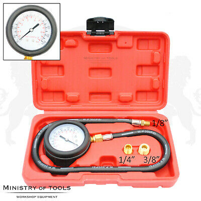 Engine Oil Pressure Tester 3 adapters Pressure 7bar Gauge Gives Accurate reading