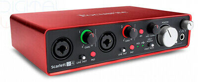 Focusrite Scarlett 2i4 (2nd Gen) USB Audio Interface with - 2 Mic Pres