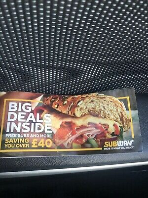 Subway Vouchers ( Save Over £40 ) London Region