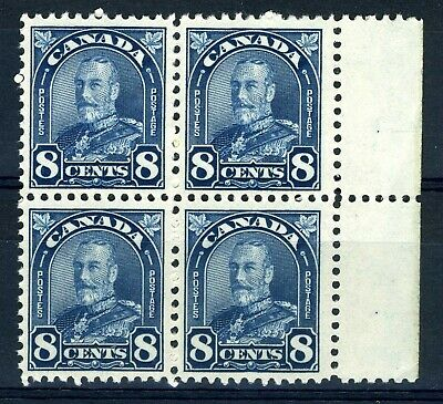 CANADA Scott 171 - MNH - BLK of 4 - 8 Cent Blue Arch / Leaf (.007)