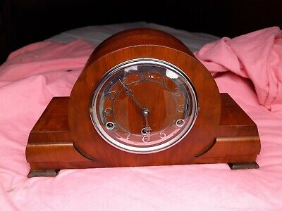 British Art Deco 8Day Westminster Chimes Mantel Clock G.W.O