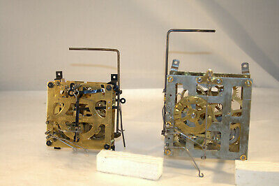 Lot: 2 Vintage 1 Day Cuckoo Clock Movements for Parts/Repair