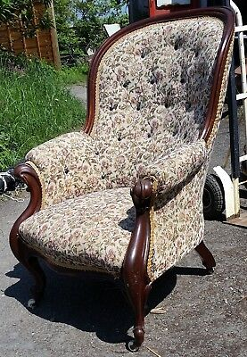 Large Antique Armchair.