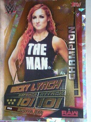 Topps Wwe Slam Attax Universe Champion Becky Lynch Card Comb P&P