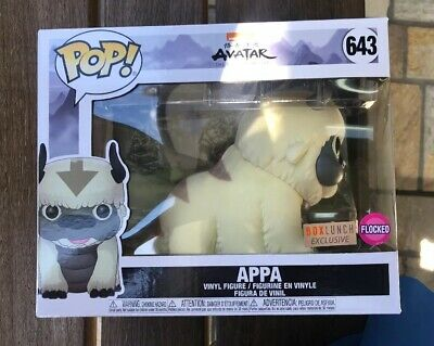 "Funko Pop Avatar The Last Airbender 6"" Flocked Appa Box Lunch Exclusive In Hand"