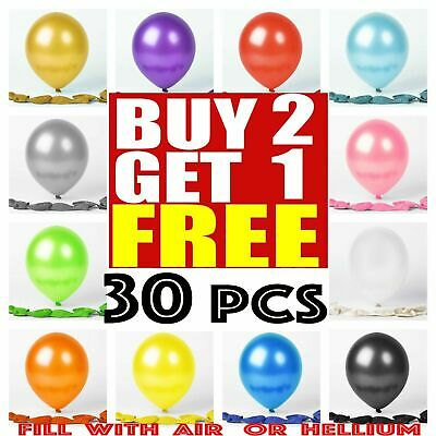 20 Latex PLAIN BALOON BALLONS helium BALLOONS Quality Party Birthday Baloons