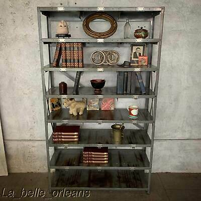 VINTAGE INDUSTRIAL WALL RACK ORIGANIZER / BOOKCASE / TCHOTCHKES DISPLAY . L@@k!!