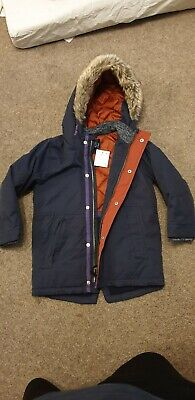Boys Next Age 4-5 Years Navy Winter Parka Coat  Brand New with Tags BNWT