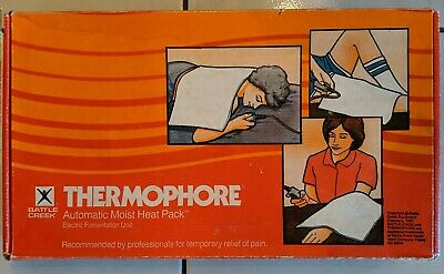 Vintage Battle Creek Thermophore Heating Pad Model 055 1984 No Flannel Cover