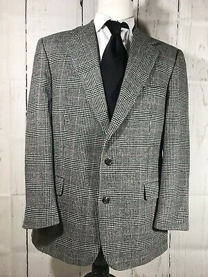 Brooks Brothers Men's 42R Two Button Sport Coat Blazer Glen Plaid Gray Wool