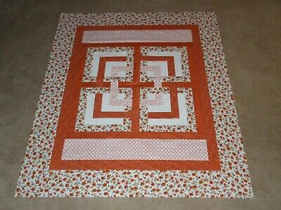 Block In  Block Out  Quilt Top  52 X 64