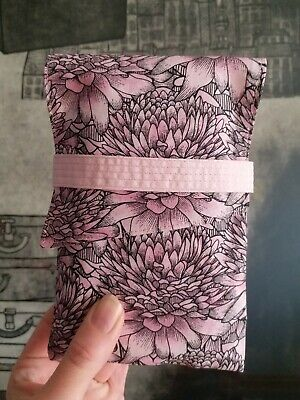 Pink Blooms Tarot Card Bag Flowers Floral Oracle Deck Foldover Pouch