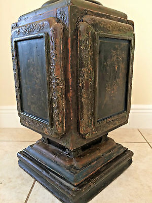 ANTIQUE Chinese Wood BEAUTIFUL Pillar Ming Period Relic Architectural Imperial