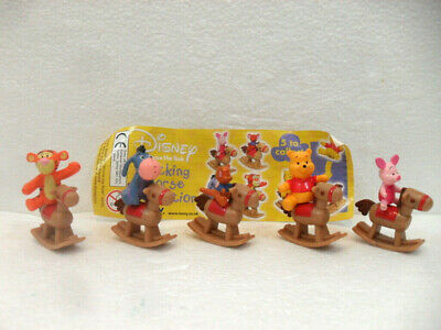 "Winnie Pooh ""Rocking Horse Collection"" serie completa 5 figure con cartina"