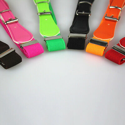PU Leather Belt Children Girls PU Stretchy Leather Candy Color Childrens